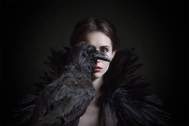 The Raven by Ksenija-Strange