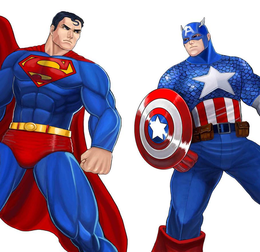 Player Select: Superman VS Captain America By Garoooooh On