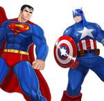 Player Select: Superman VS Captain America