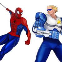 Player Select: Spider-Man VS Captain Commando by Garoooooh