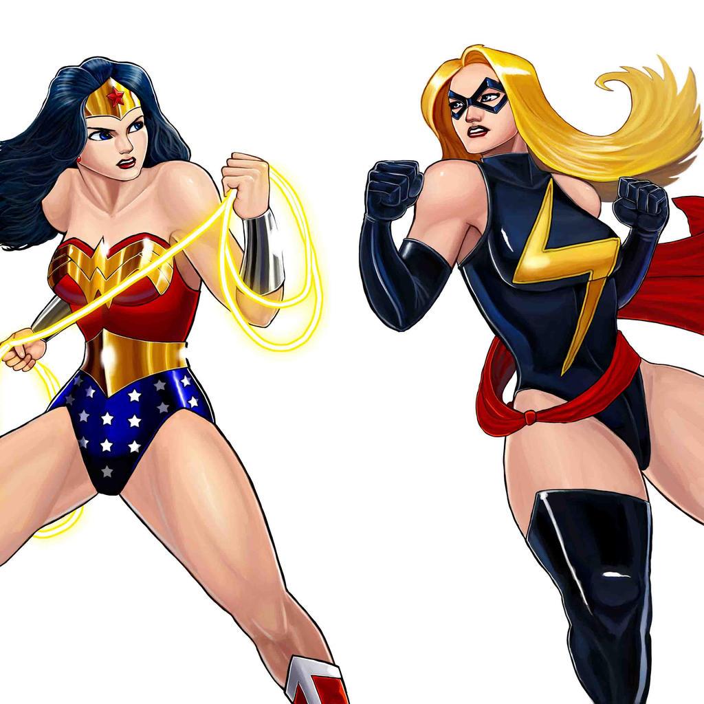 Player Select: Wonder Woman VS Ms. Marvel
