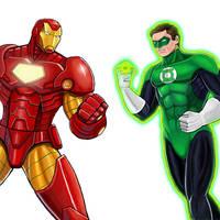 Player Select: Iron Man VS Green Lantern by Garoooooh