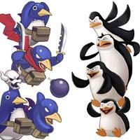 Player Select: Prinnies VS Penguins of Madagascar by Garoooooh