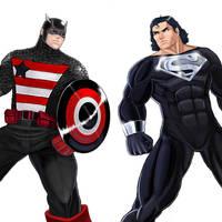 Player Select: U.S.Agent VS Superman by Garoooooh
