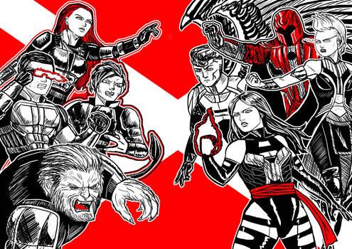 X-Men VS Horsemen of Apocalypse