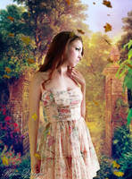 Girl in Fantasy Orchard by Rshant