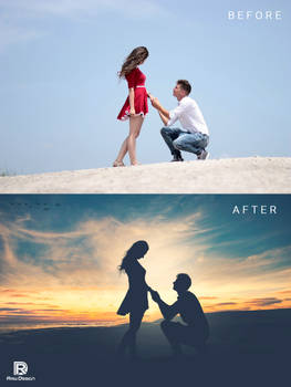 Silhouette Effect With Before and After