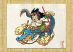 Son Goku and the Dragon by Lyrin-83