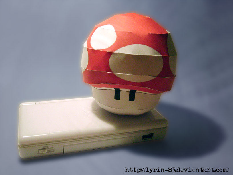 1UP Mushroom - Papercraft by Lyrin-83