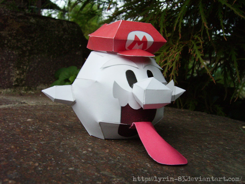 Boo Mario - Papercraft by Lyrin-83