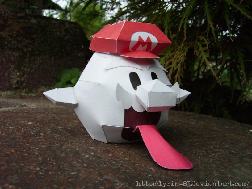 Boo Mario - Papercraft by Lyrin-83