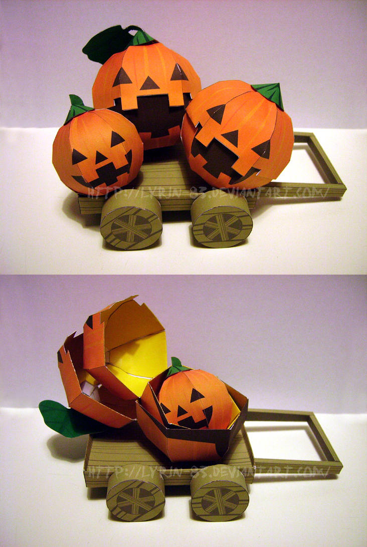 Jack-o'-lantern - Papercraft by Lyrin-83