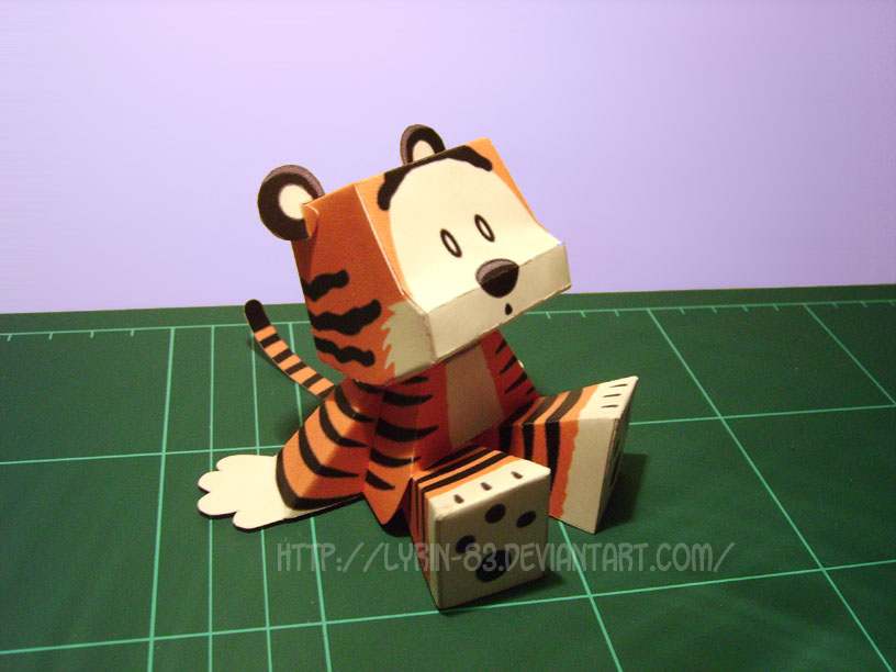 Stuffed Tiger - Papercraft by Lyrin-83