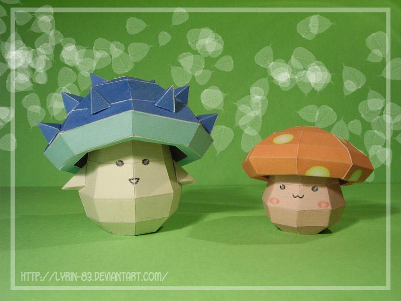 Maplestory Mushrooms by Lyrin-83
