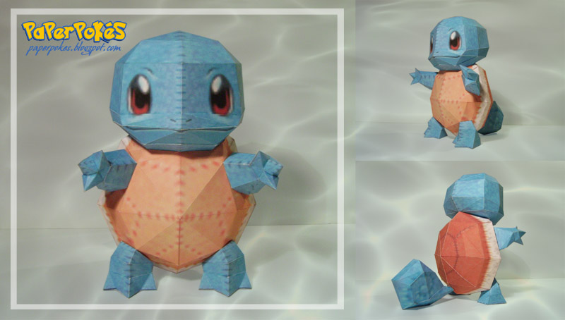 Squirtle pokedoll papercraft by Lyrin-83
