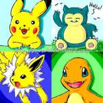 Pokemon Doodles by Lyrin-83