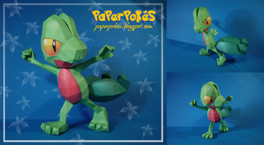 Treecko Papercraft by Lyrin-83