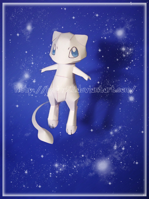 Mew Papercraft by Lyrin-83