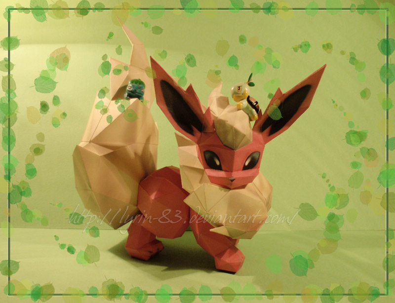 Fire vs Grass - Papercraft by Lyrin-83