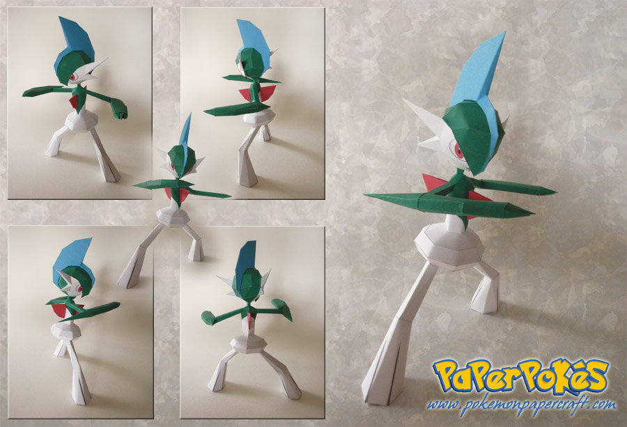 Gallade Papercraft by Lyrin-83