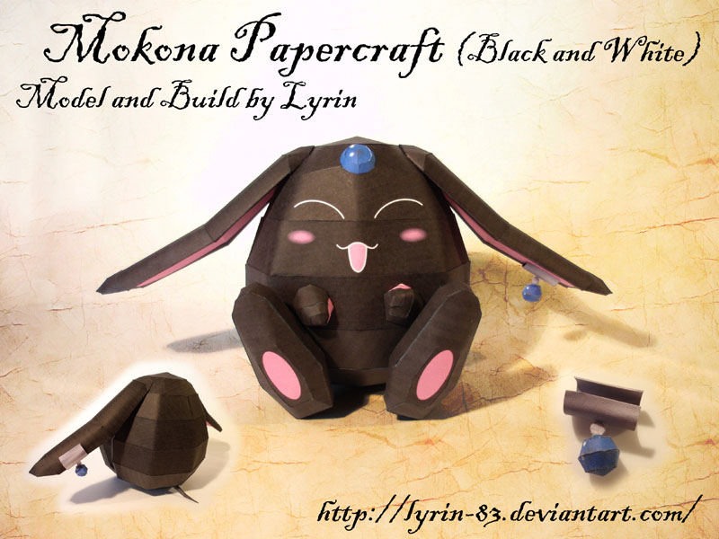 Mokona Papercraft by Lyrin-83