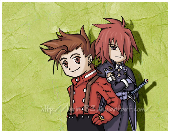 .Lloyd and Kratos. by Lyrin-83