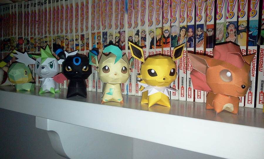 Chibi papercraft eon-army and friends by Lyrin-83