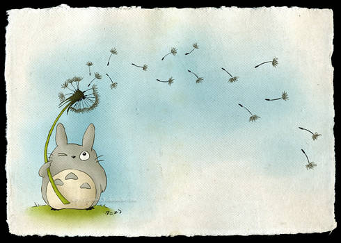 Totoro with a Dandelion
