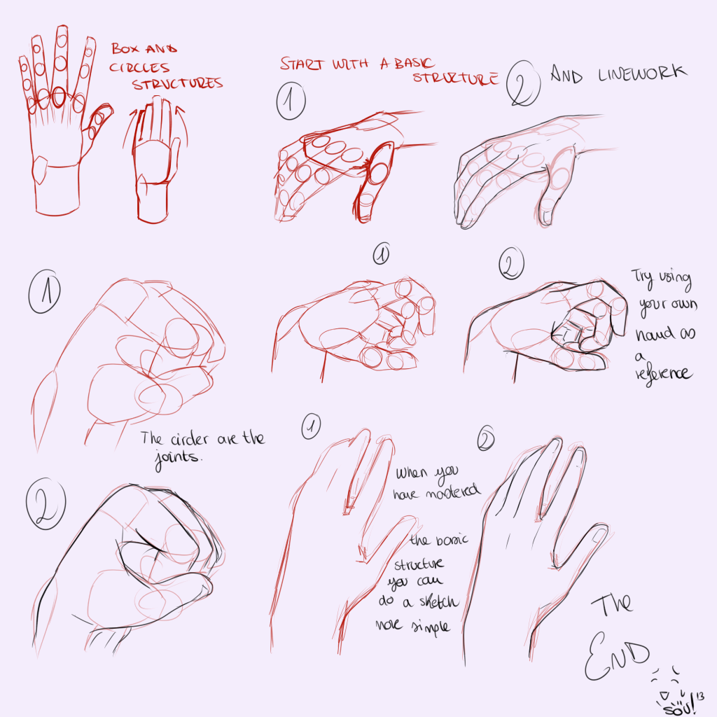 Anime hand drawing tutorial the image for Ro draw