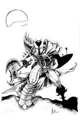 Midievil Spawn Commission (ink) by whurpurgis