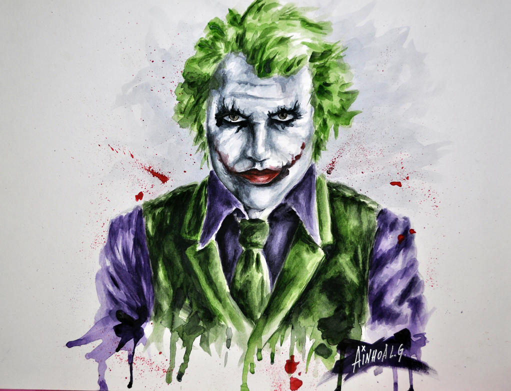 Joker - Heath Ledger by AinhoaLG