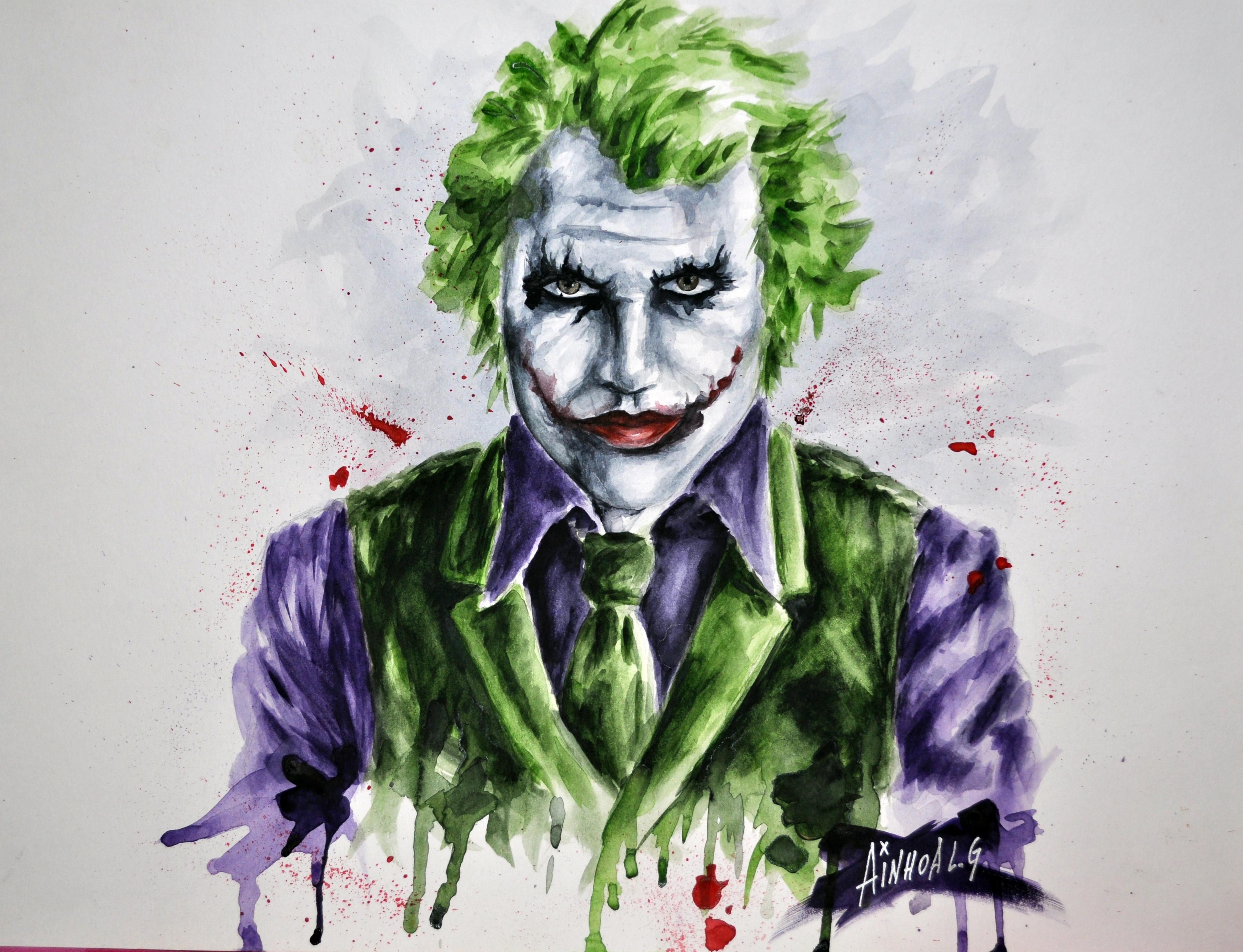 Joker - Heath Ledger by AinhoaLG