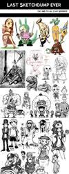 Last Sketchdump Ever by e1n