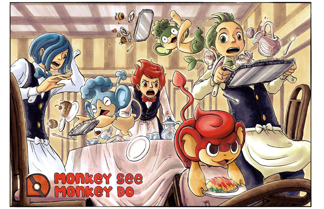 ZE Gallerie du Cabanon - Page 11 Pkmn__monkey_see__monkey_do_by_e1n-d3eukos