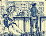 Cowboys at the Saloon