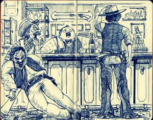 Cowboys at the Saloon