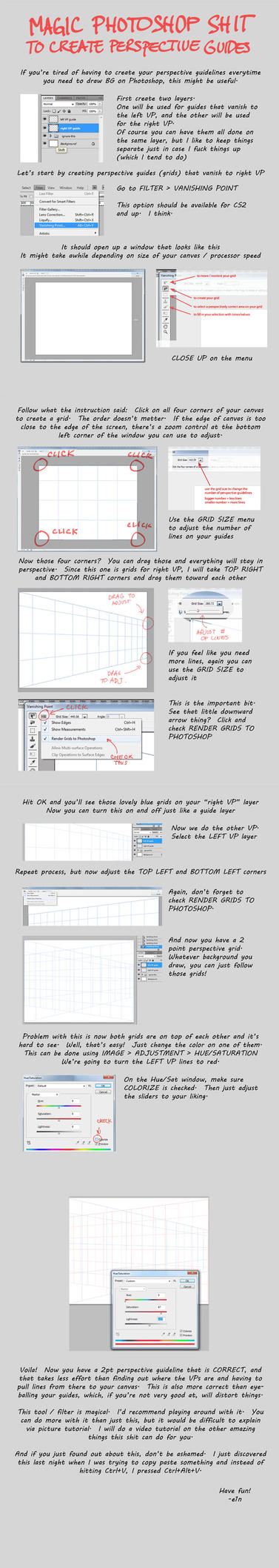 Tutorial: Magic Perspective Guidelines by e1n