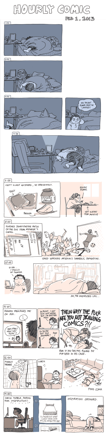Hourly Comic 2013 by e1n