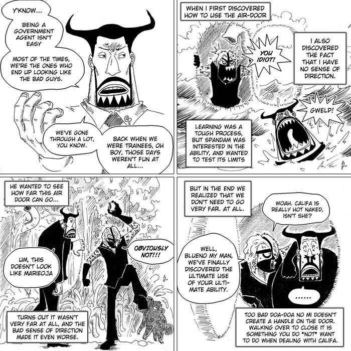 Image drôle ou Parodie de One Piece Agent_blueno__training_day_by_e1n