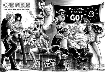 OMG ONE PIECE FANART FINALLY by e1n