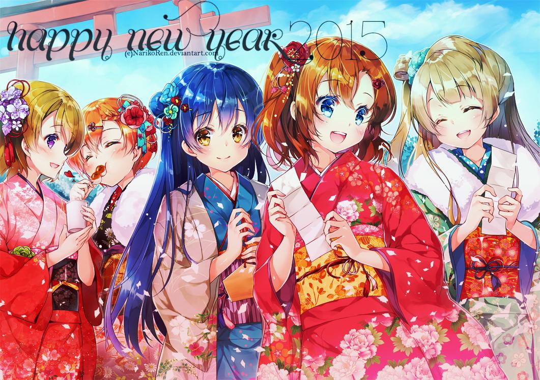 Wallpaper love live new year by narikoren on deviantart - Love live wallpaper 540x960 ...