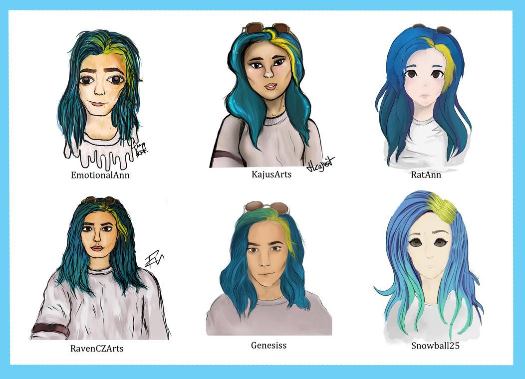 Draw chalenge: style // character: Halsey by KajusArts