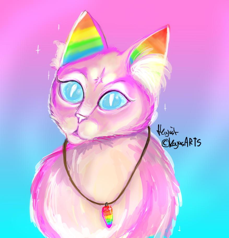 Magic kittie by KajusArts