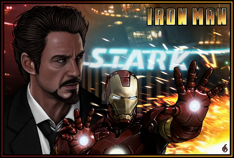 TONY STARK is IRON MAN by IJS-Creations