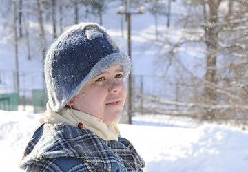 Eelika, winter portrait by Sipelgas