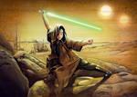 Luke Skywalker at Ben Kenobi's Home SOTE