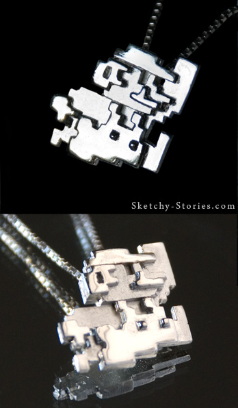 Mario Pendant by Sketchy-Stories