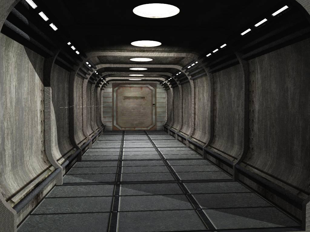 Sci fi corridor by digger2000 on deviantart - Wallpaper corridor ...
