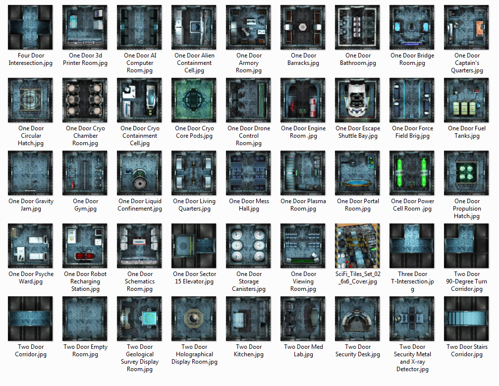 [DramaScape] SciFi 6 x 6 Tiles Set 02