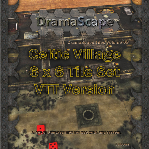Celtic Village Tile Cover by Digger2000